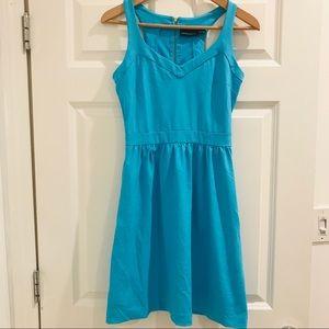 Cynthia Rowley aqua blue sweetheart dress